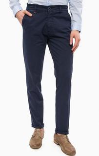Хлопковые брюки чиносы синего цвета Liu Jo Uomo