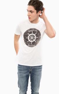 Хлопковая футболка с принтом Liu Jo Uomo