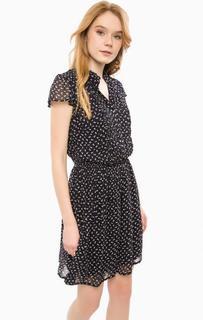 Платье из вискозы с цветочным принтом D&S Ralph Lauren