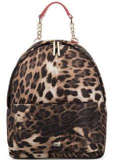 Текстильный рюкзак с животным принтом Cavalli Class