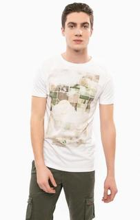 Белая хлопковая футболка с короткими рукавами Liu Jo Uomo