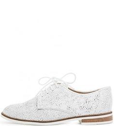 Белые кожаные полуботинки на шнуровке Bronx