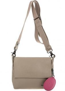 Маленькая кожаная сумка с широким плечевым ремнем Mandarina Duck
