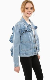 Джинсовая куртка с декоративными оборками Glamorous