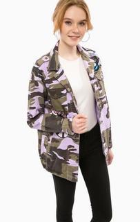 Куртка на кнопках в стиле милитари Glamorous