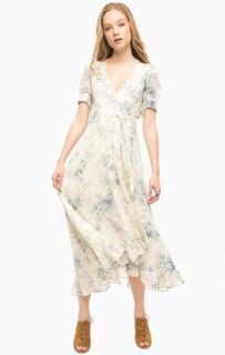 Платье из хлопка с запахом D&S Ralph Lauren