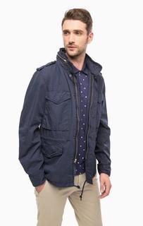 Синяя куртка из хлопка со скрытым капюшоном D&S Ralph Lauren