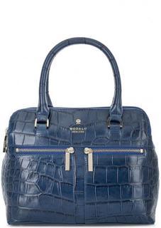 Кожаная сумка с выделкой под рептилию Modalu London
