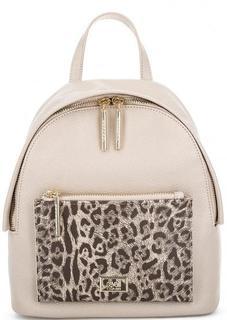 Бежевый рюкзак на молнии Cavalli Class