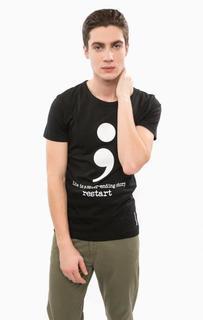 Хлопковая футболка с короткими рукавами Besilent