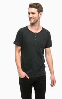 Хлопковая футболка с пуговицами Strellson