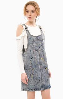 Короткий джинсовый комбинезон Glamorous
