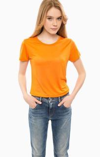Оранжевая футболка с короткими рукавами Cinque