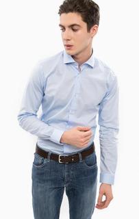 Приталенная синяя рубашка из хлопка Liu Jo Uomo