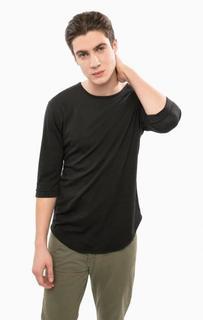 Черная футболка с рукавами три четверти Besilent