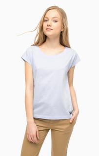Синяя футболка из хлопка свободного кроя Lion OF Porches