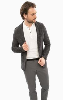 Серый пиджак с накладными карманами Cinque