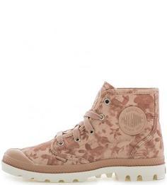 Текстильные ботинки с цветочным принтом Palladium