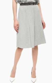 Плиссированная юбка из вискозы Pois