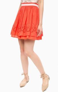 Короткая юбка с ажурной вышивкой Kocca