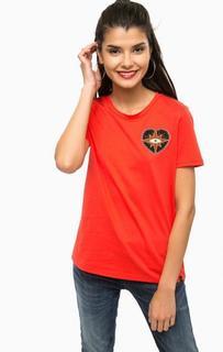 Красная хлопковая футболка Scotch&Soda