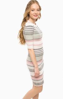 Платье-свитер в полоску средней длины Rich&Royal