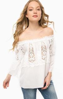 Белая блуза с вышивкой Rich&Royal