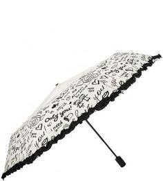 Автоматический зонт с отделкой рюшами Flioraj