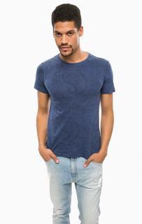 Синяя футболка с цветочным принтом Alcott