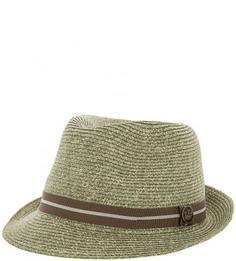Плетеная шляпа цвета хаки с лентой Goorin Bros.