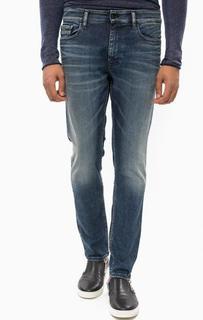 Синие джинсы с заломами Calvin Klein Jeans