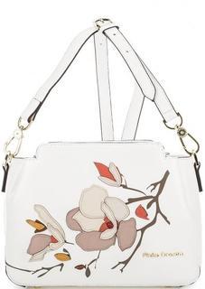 Белая кожаная сумка через плечо Fiato Dream