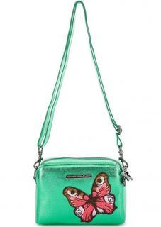 Маленькая сумка через плечо зеленого цвета George Gina & Lucy