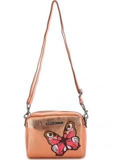 Маленькая сумка через плечо золотистого цвета George Gina & Lucy