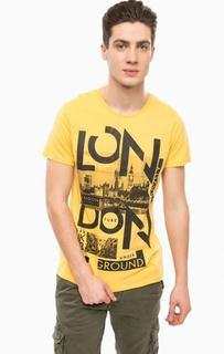 Хлопковая футболка с нашивками Alcott