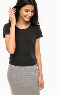 Однотонная футболка с воротом на молнии Calvin Klein Jeans