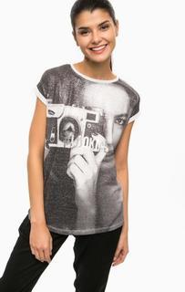 Серая футболка с металлизированной нитью Alcott