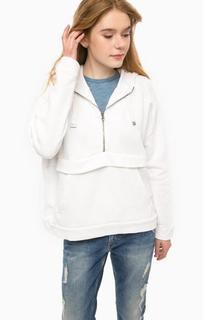 Белая толстовка с капюшоном Pepe Jeans