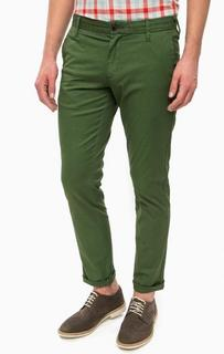 Зеленые хлопковые брюки Pepe Jeans