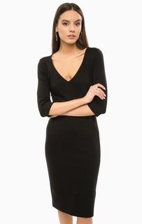 Черное платье с рукавами три четверти Marciano Guess
