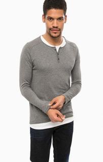 Серый джемпер с футболкой Scotch&Soda