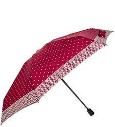 Бордовый зонт со складной ручкой Doppler