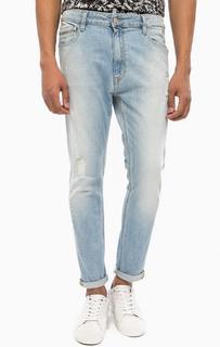 Рваные джинсы с принтом Calvin Klein Jeans