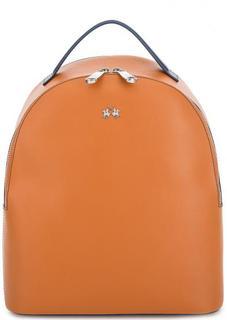 Рюкзак из гладкой кожи с тонкими лямками La Martina