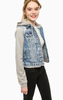 Куртка из денима со съемным капюшоном Alcott