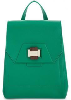 Зеленый рюкзак из натуральной кожи Gironacci