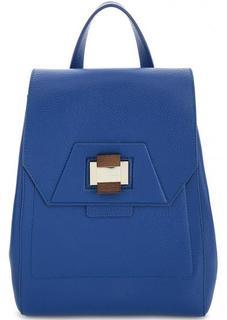 Синий рюкзак из натуральной кожи Gironacci