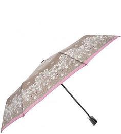Серый зонт с цветочным принтом Doppler
