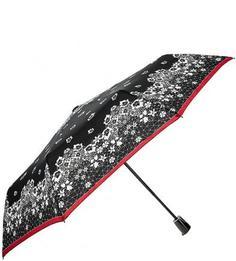"""Черный складной зонт с системой """"антиветер"""" Doppler"""