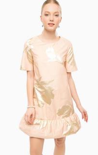 Короткое платье кораллового цвета Think Chic